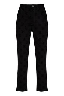 Черные брюки с узором Karligraphy Fendi