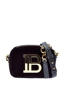 Маленькая бархатная сумка B-Camera Bag Balmain