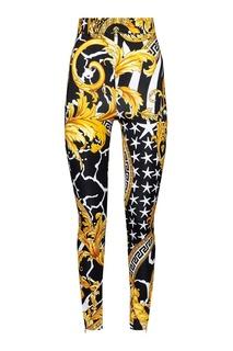 Узкие брюки с принтом Barocco Versace