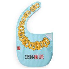 Фартук Happy Baby WATER-PROOF BABY BIB нагрудный на липучке Sushki