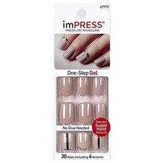 Накладные ногти imPress Press-on Manicure BIPA120 короткие Нюдовый стиль 30 шт.