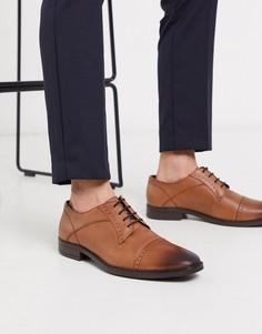 Коричневые кожаные туфли дерби Redfoot-Светло-коричневый