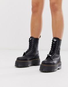 Черные ботинки на платформе Dr Martens x Dolls Kill Jadon Max-Черный