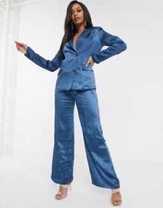 Темно-синие брюки в строгом стиле Unique 21-Темно-синий Unique21