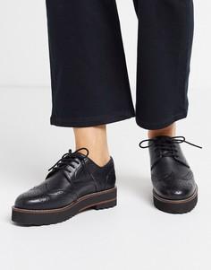 Черные кожаные броги ASOS DESIGN-Черный