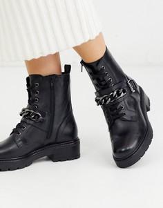 Походные ботинки с цепочкой ALDO-Черный