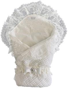 Конверт-одеяло вязанный на выписку + уголок с кружевом+ пояс на резинке, 300гр MAM Baby