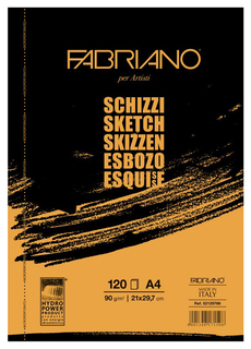 Альбом для рисования FABRIANO Schizzi 120 листов, А4