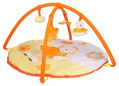 """Игровой развивающий коврик Mioshi """"Мягкий медвежонок"""", с подвесными игрушками, 85х85х45 см"""