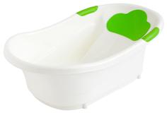 Ванночка Roxy c анатомической горкой и сливом зелёный