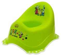 Горшок Maltex мишка и друзья c нескользящими резинками зеленый