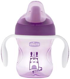 Chicco Поильник Chicco Training Cup (полужестк, носик), 1 шт,, 6+, 200 мл,фиолетовый
