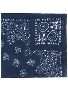 Gucci шарф с платочным принтом