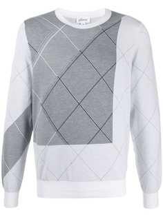 Brioni пуловер с геометричным узором