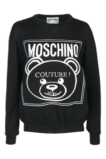 Джемпер из шерсти с логотипом Moschino