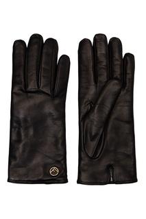Черные перчатки с заклепками Fendi