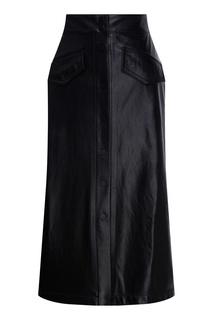 Кожаная юбка-карандаш на пуговицах Beri Begi