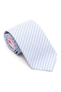 Светлый галстук в полоску Prada