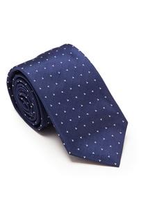 Синий галстук с сердцами Prada