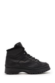 Утепленные ботинки черного цвета Prada