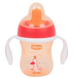 Чашка-поильник Chicco Training cup полужесткий носик, с 6 месяцев