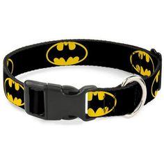 Ошейник для собак Buckle-Down Бэтмен с пластиковой застёжкой