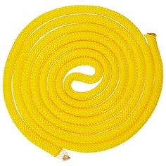 Гимнастическая скакалка утяжелённая Indigo SM-121 желтый 250 см