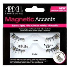 Ardell магнитные накладные ресницы Magnetic Accents 001 черный