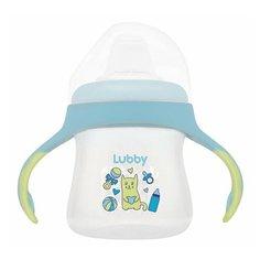 Поильник-непроливайка Lubby Малыши и малышки 16403, 150 мл голубой