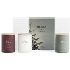 Набор из 3 ароматических свечей SKANDINAVISK Onska mini по 55 г