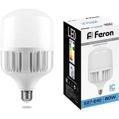 Лампа светодиодная Feron LB-65 25782 E27-E40 60W 6400K Цилиндр Матовая