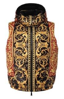 Двусторонний пуховый жилет Versace