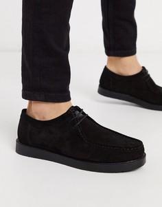Замшевые туфли на шнуровке KG by Kurt Geiger-Черный