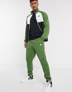 Зеленый спортивный костюм на молнии Nike