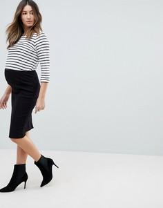 Облегающая юбка Mamalicious-Черный Mama.Licious