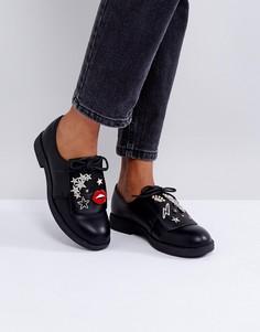 Туфли на плоской подошве Park Lane Customised-Черный