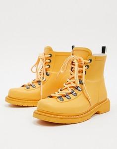 Походные ботинки на шнуровке Vero Moda-Желтый