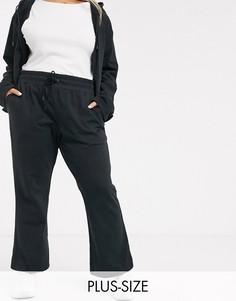 Черные широкие премиум-джоггеры от комплекта с завышенной талией Nike Plus-Черный