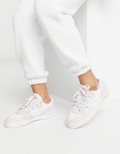 Низкие кроссовки с эффектом металлик adidas Originals Rivalry-Серый