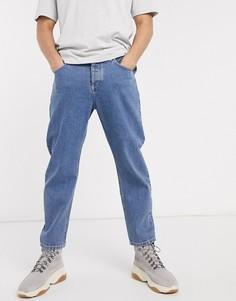 Зауженные джинсы из денима плотностью 14 унц ASOS WHITE-Синий