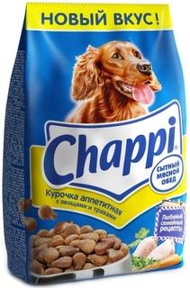 Сухой корм для собак Chappi Сытный мясной обед, Курочка аппетитная, 2,5кг
