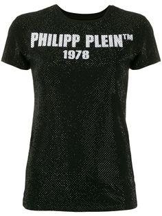 Philipp Plein футболка -23 с короткими рукавами и кристаллами