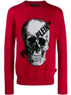 Philipp Plein пуловер с принтом Skull