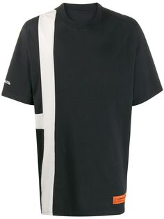 Heron Preston футболка оверсайз с полосками