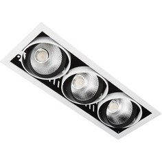 Встраиваемый светодиодный светильник Ambrella light T813 BK/CH 3*12W 4200K
