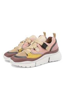 Комбинированные кроссовки Sonnie Chloé