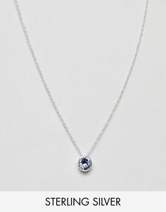 Серебряное ожерелье с кристаллом Swarovski Accessorize-Серебряный