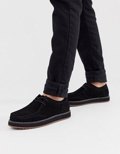 Черные замшевые туфли на шнуровке ASOS DESIGN-Черный