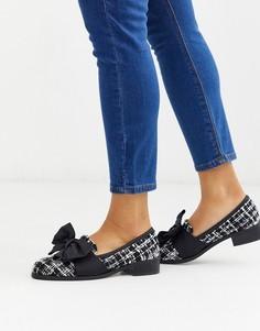 Твидовые туфли на плоской подошве ASOS DESIGN-Мульти