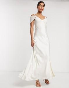 Свадебное платье с открытыми плечами Ghost-Белый